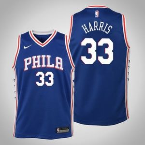 Youth Philadelphia 76ers #33 Tobias Harris Jersey